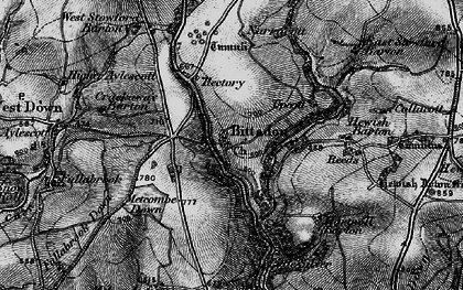 Old map of West Stowford Barton in 1898
