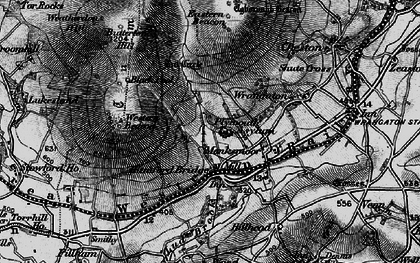 Old map of Western Beacon in 1898