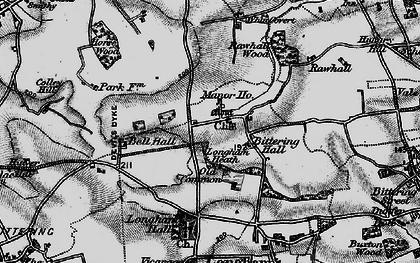 Old map of Launditch in 1898