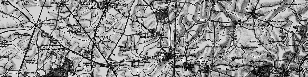 Old map of Wood Br in 1898