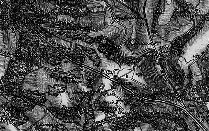 Old map of Bix in 1895