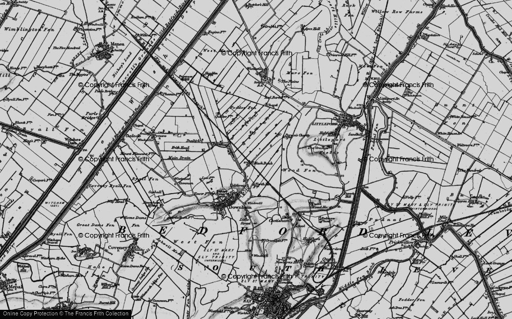 Old Map of Black Bank, 1898 in 1898