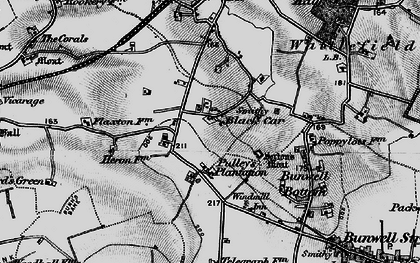 Old map of Black Carr in 1898