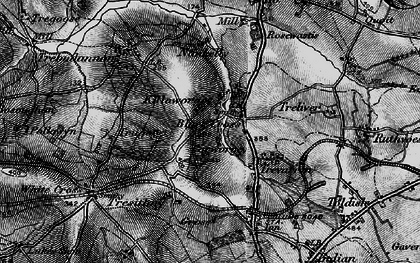 Old map of Black Cross in 1895