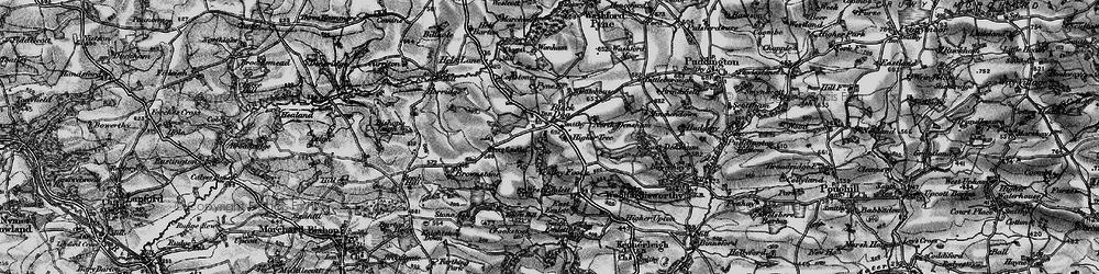 Old map of Wonham in 1898