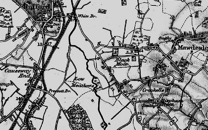 Old map of Black Moor in 1896