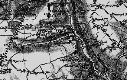 Old map of Black Notley in 1896