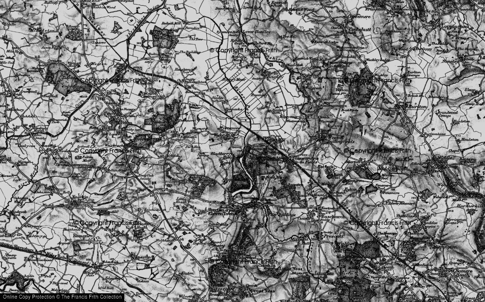 Old Map of Historic Map covering Limpit Hill in 1899