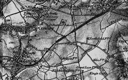 Old map of Blackbird Leys in 1895