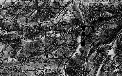 Old map of Tickerage Wood in 1895