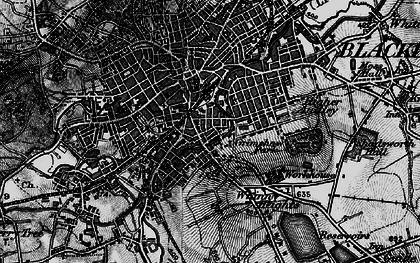 Old map of Blackburn in 1896
