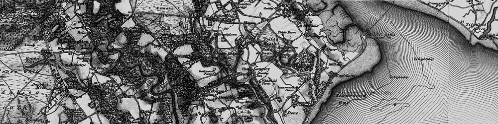 Old map of Tom's Down in 1895