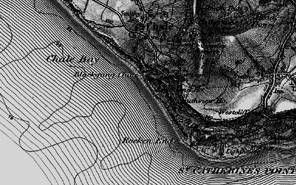 Old map of Blackgang in 1895
