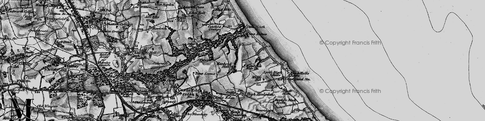 Old map of Blackhall Colliery in 1898