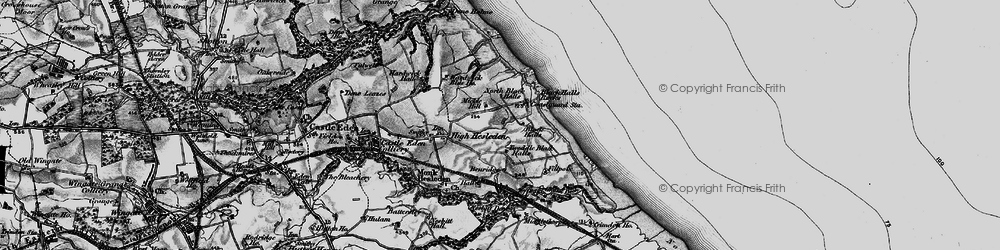 Old map of Blackhall Rocks in 1898