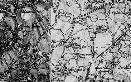 Old map of Blackhorse in 1898