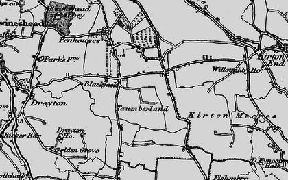 Old map of Blackjack in 1898