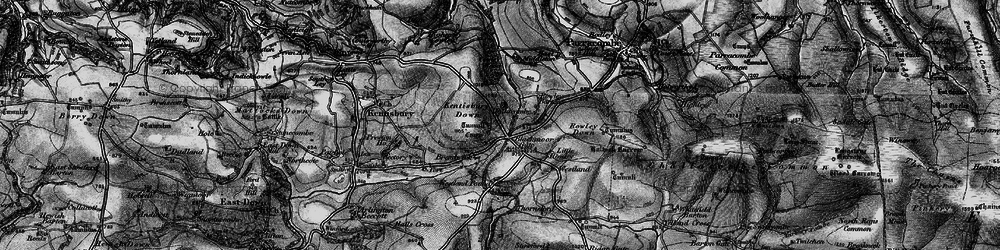 Old map of Wistlandpound in 1898