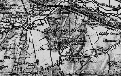 Old map of Whitcombe Vale in 1897