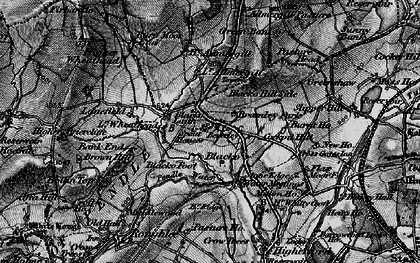 Old map of Blacko in 1898