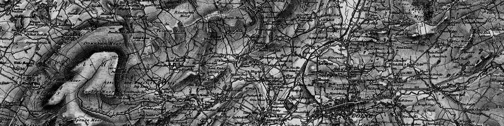 Old map of Admergill in 1898