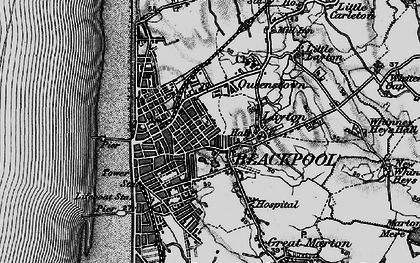 Old map of Blackpool in 1896