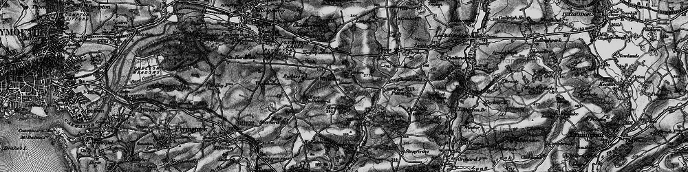 Old map of Wiverton in 1898