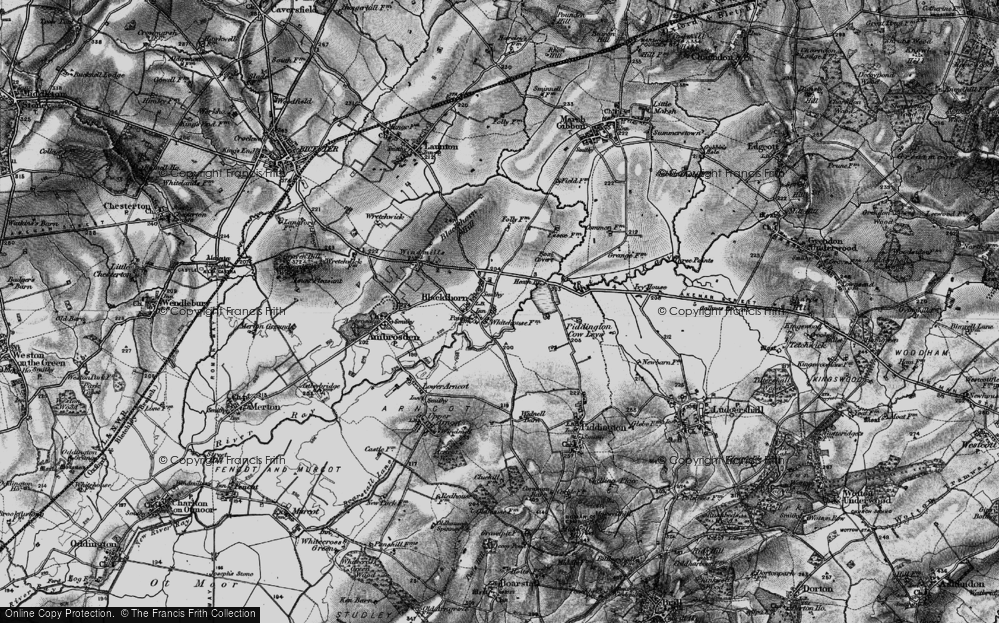 Old Map of Blackthorn, 1896 in 1896