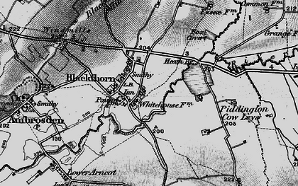Old map of Blackthorn in 1896
