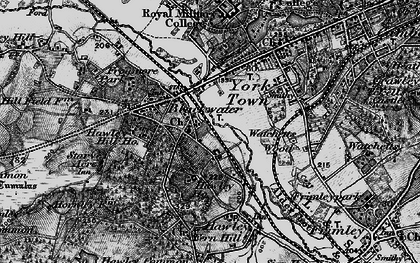 Old map of Blackwater in 1895