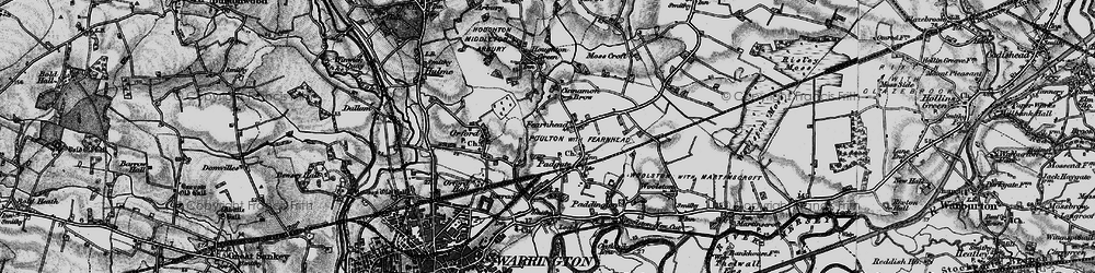Old map of Blackwood in 1896