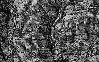 Old map of Blackwood in 1897