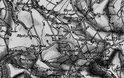 Old map of Afon Soden in 1898