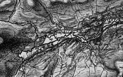 Old map of Afon Diwaunedd in 1899