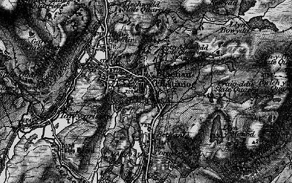 Old map of Blaenau Ffestiniog in 1899