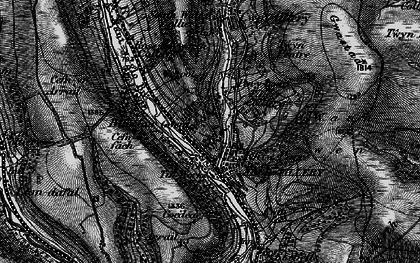 Old map of Blaenau-Gwent in 1897
