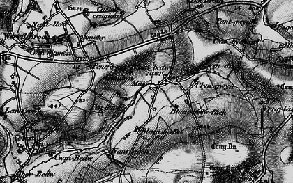Old map of Afon Bedw in 1898