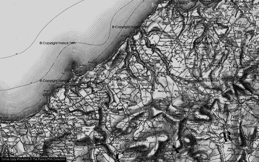 Old Map of Historic Map covering Arthach in 1898