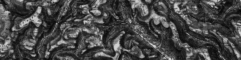 Old map of Blaencwm in 1898