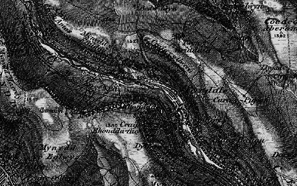 Old map of Blaenllechau in 1898