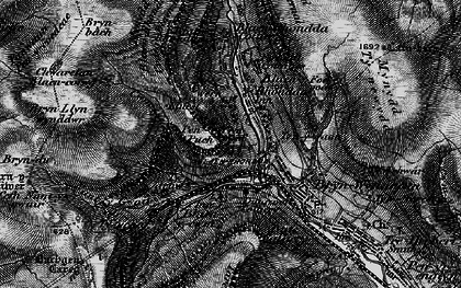 Old map of Blaenrhondda in 1898