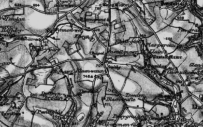 Old map of Blaenwaun in 1898