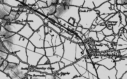 Old map of Blaguegate in 1896