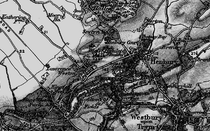 Old map of Blaise Hamlet in 1898