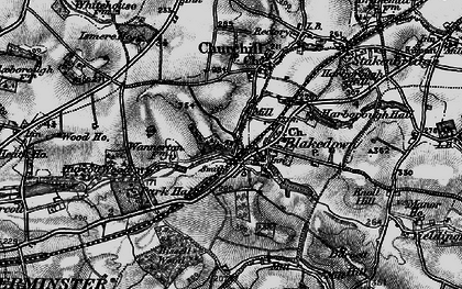 Old map of Blakedown in 1899