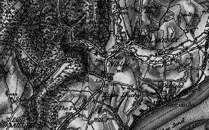 Old map of Blakeney in 1896