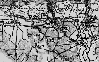 Old map of Agar Creek in 1899