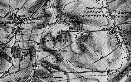 Old map of Blandford Camp in 1895