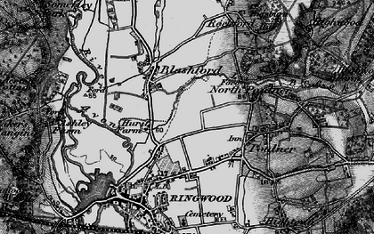 Old map of Baker's Hanging in 1895