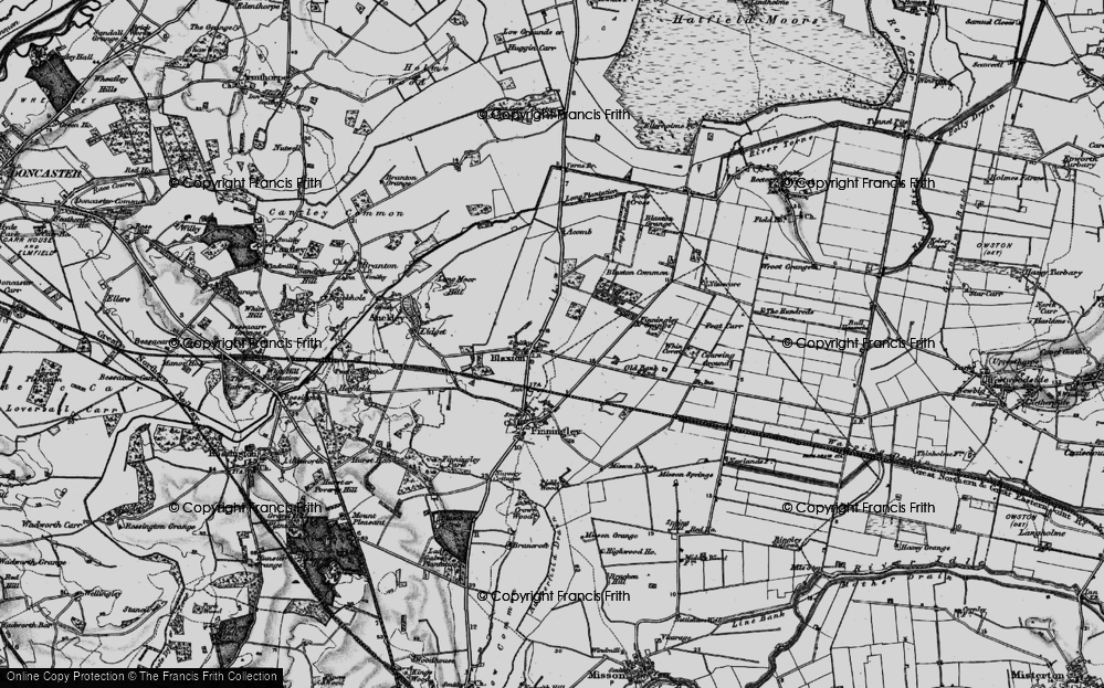 Old Map of Blaxton, 1895 in 1895